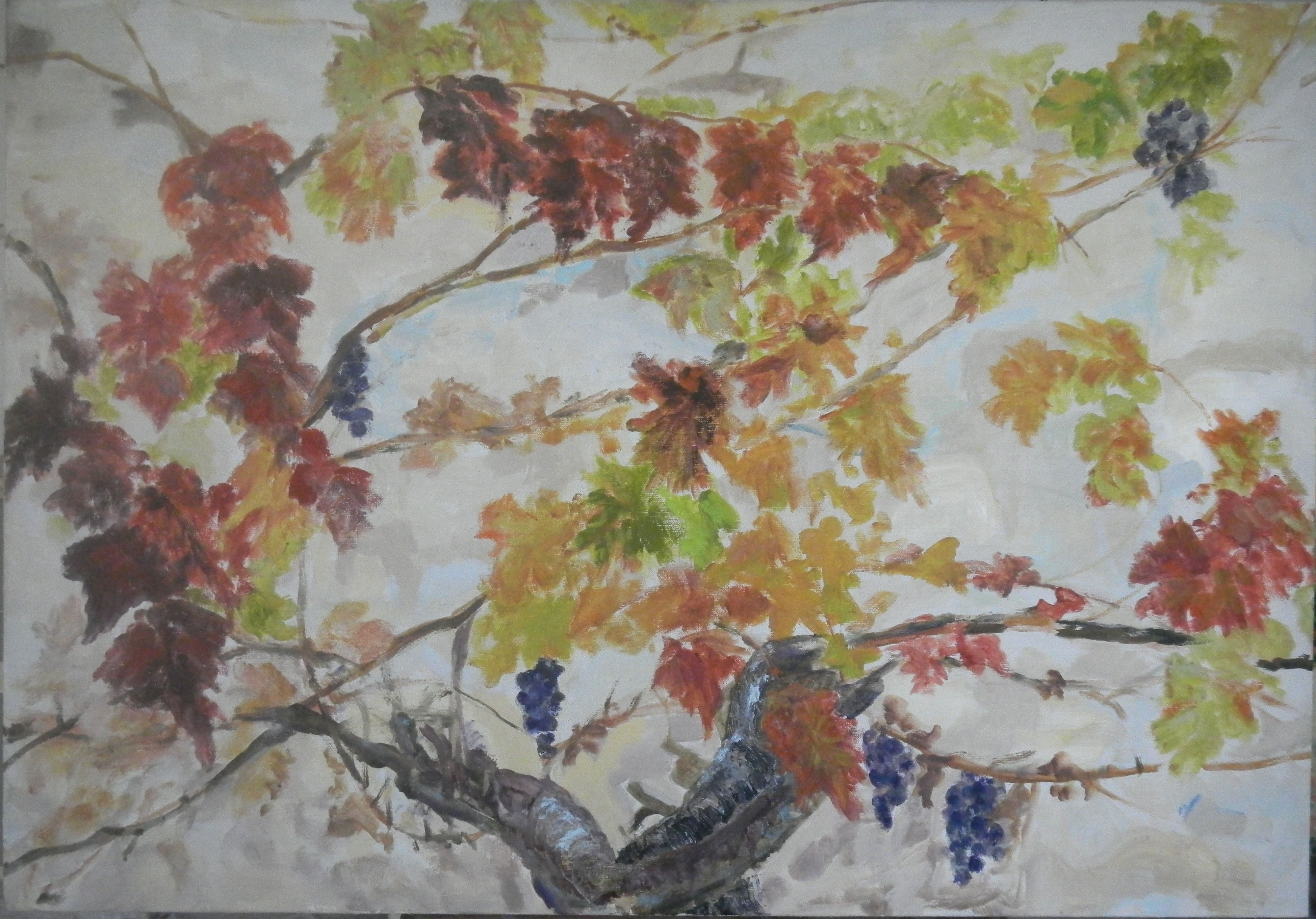 Image of - Feuilles Rouges en Automne (Red Leaves in Autumn)