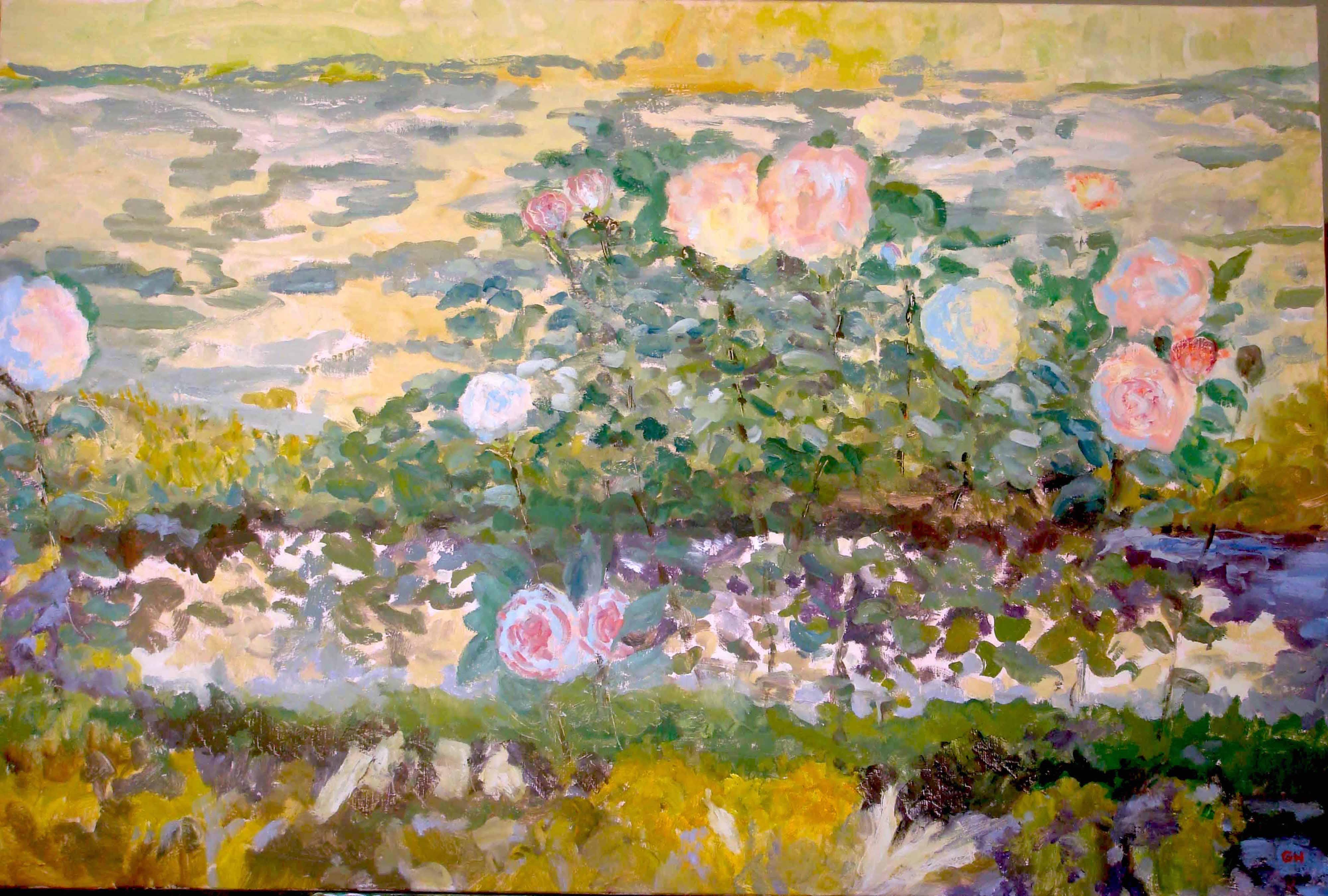 Image of - Blue Roses Reflecting