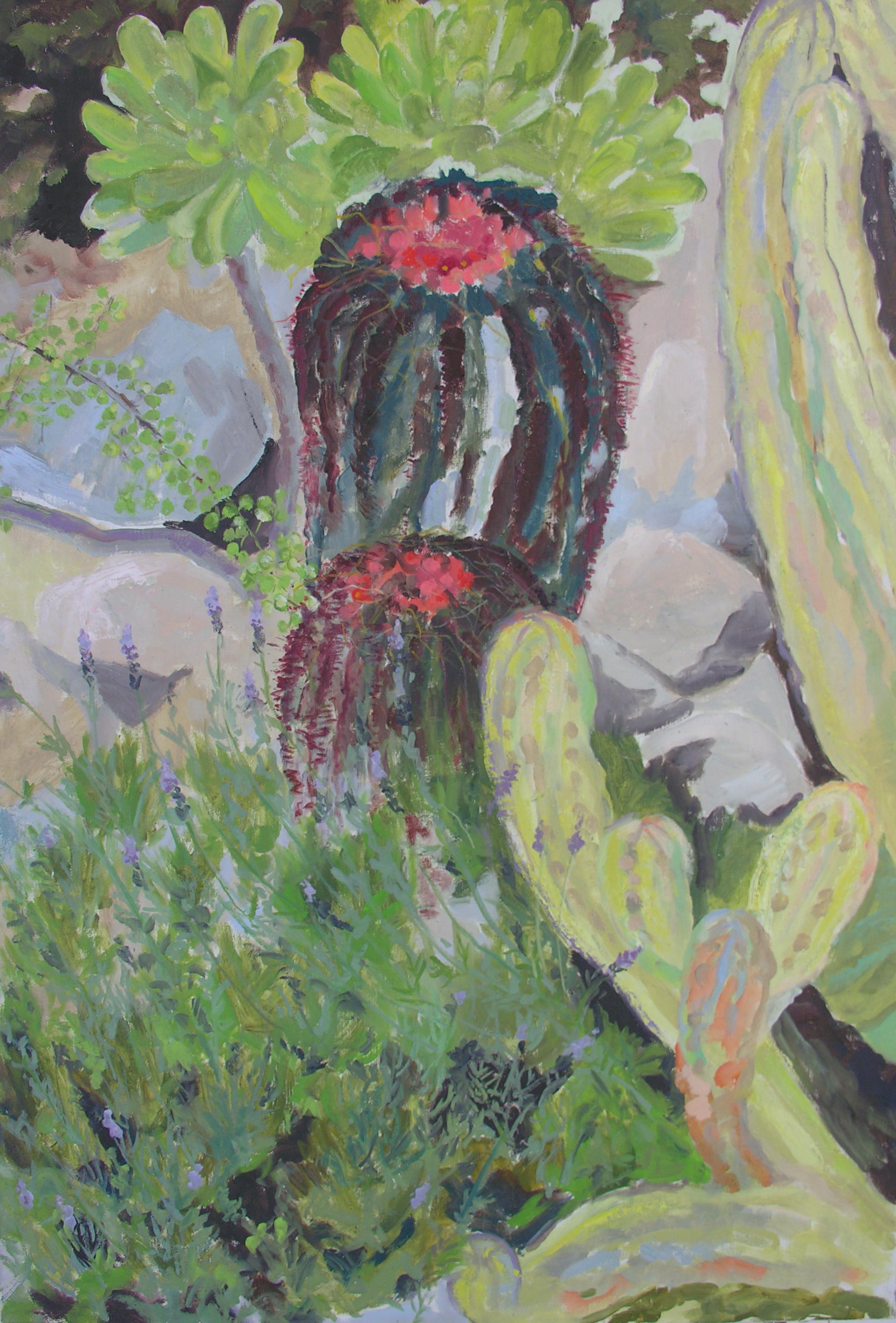 Image of - Ferocactus, Myrtillocactus & Lavander