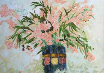 Image of - Laurier Rose Pink (Pink Oleanders at Fontana Rosa Garden)