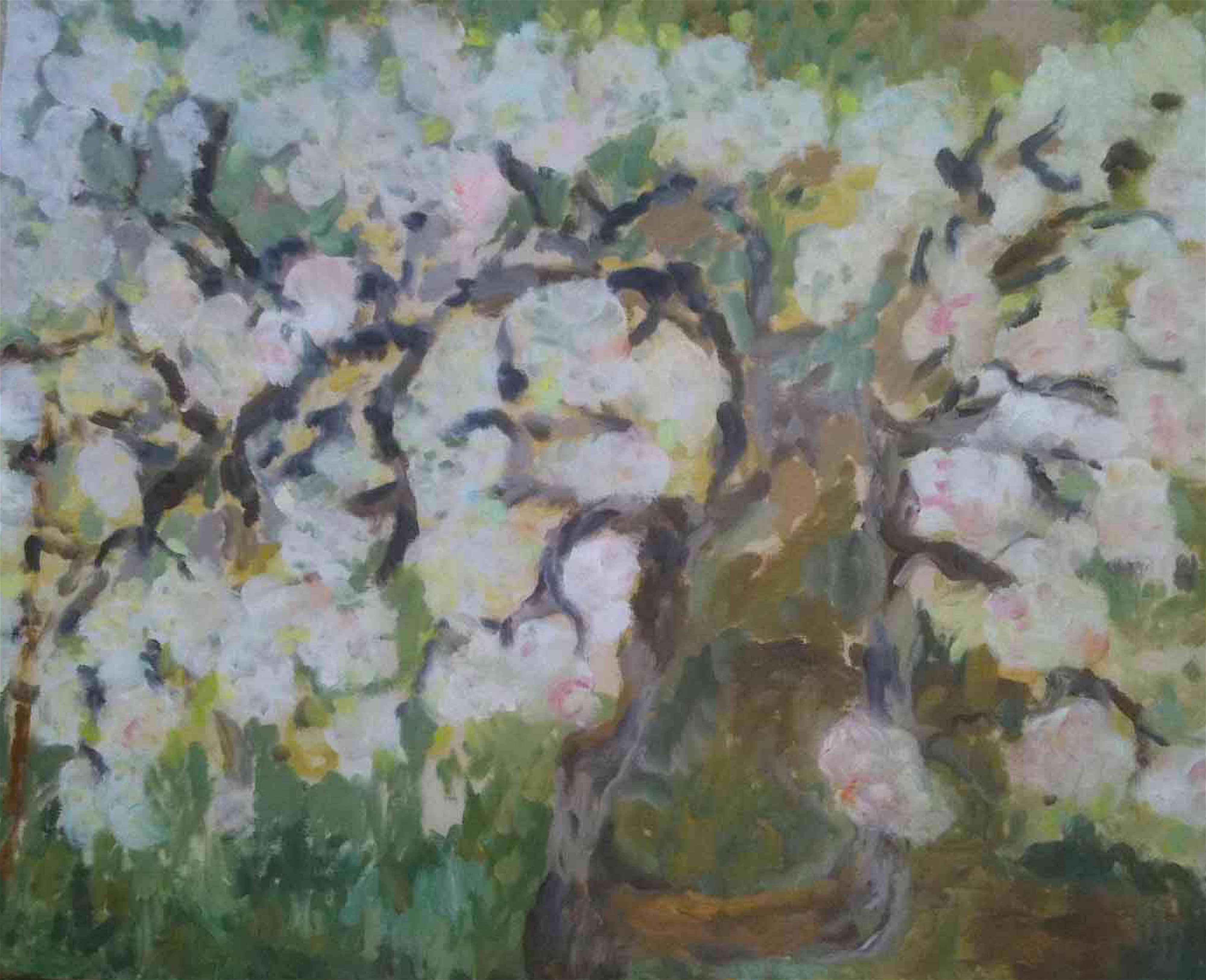 Image of - Premier Poirier en Fleur (First Pear tree in Bloom)