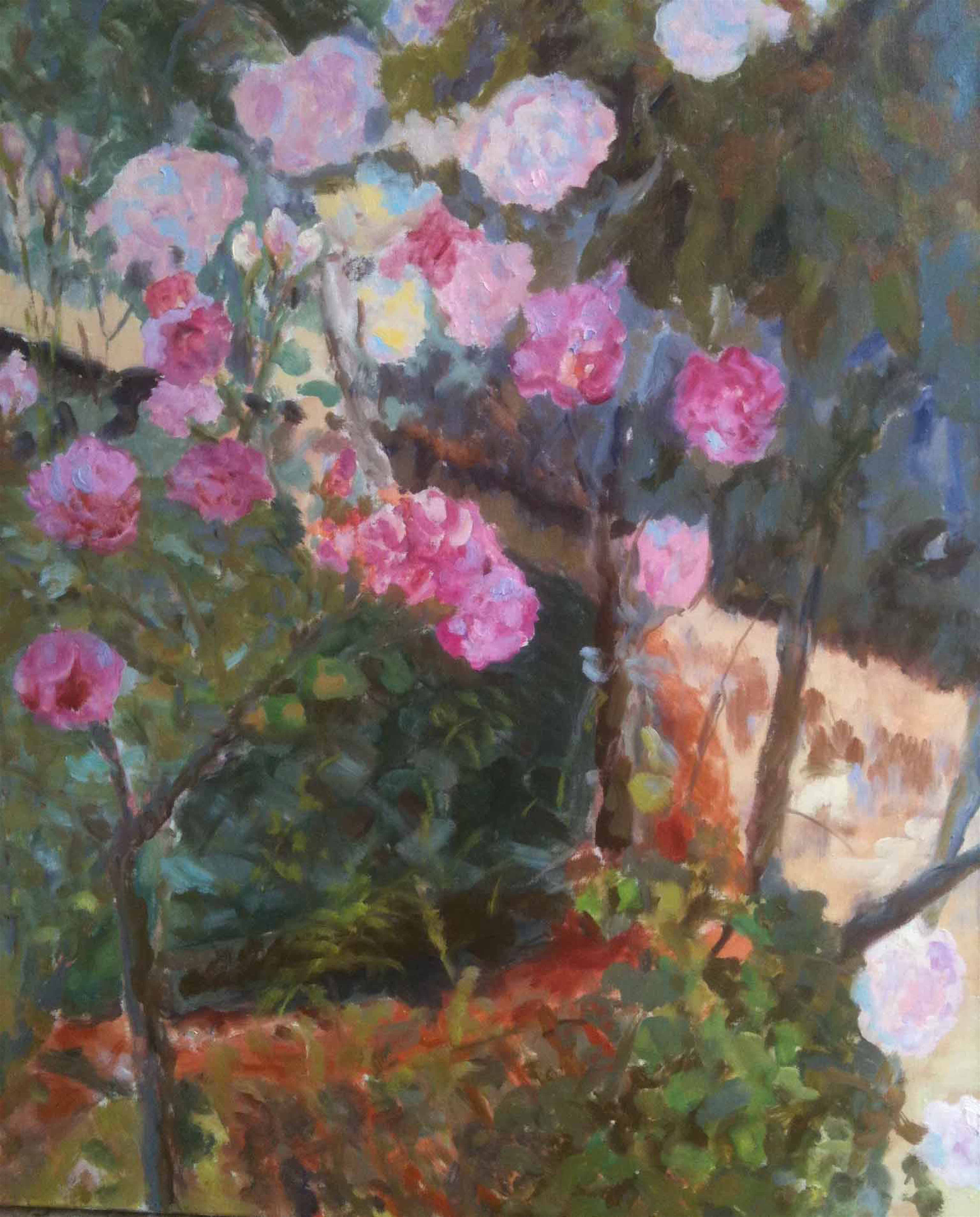 Image of - Roses around a Well
