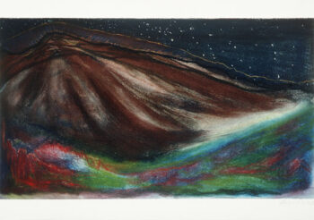 Image of - Star Night Red Ocean on Mars